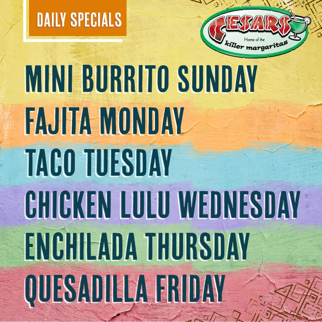 Cesars Exclusive Daily Specials